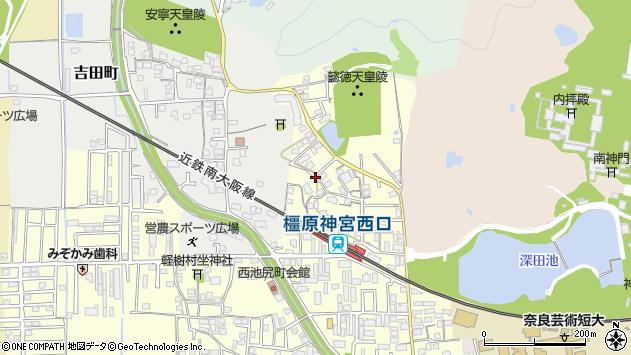 〒634-0821 奈良県橿原市西池尻町の地図