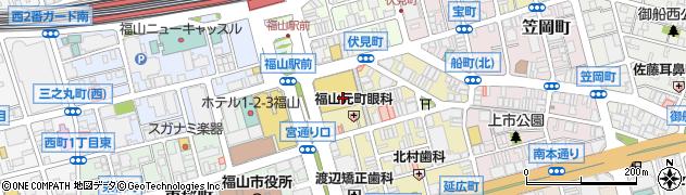 広島県福山市元町周辺の地図