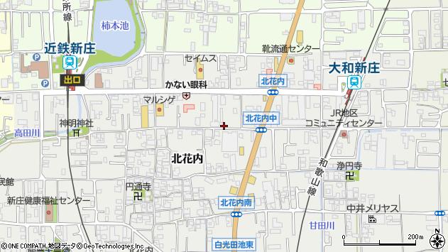 〒639-2113 奈良県葛城市北花内の地図