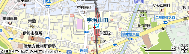 三重県伊勢市周辺の地図