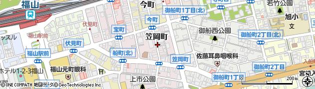 広島県福山市笠岡町周辺の地図