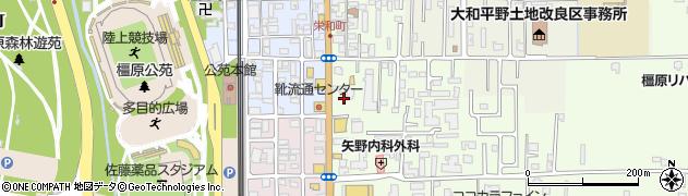 奈良県橿原市栄和町38周辺の地図