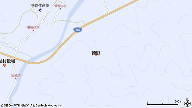 〒633-1302 奈良県宇陀郡御杖村菅野の地図