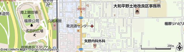 奈良県橿原市栄和町44周辺の地図