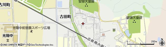 奈良県橿原市吉田町周辺の地図