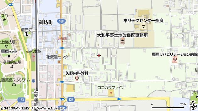 〒634-0046 奈良県橿原市栄和町の地図
