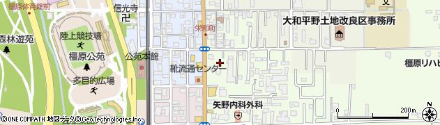 奈良県橿原市栄和町42周辺の地図