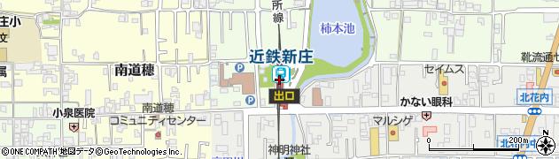 奈良県葛城市周辺の地図