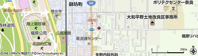 奈良県橿原市栄和町87周辺の地図