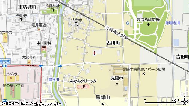 〒634-0828 奈良県橿原市古川町の地図