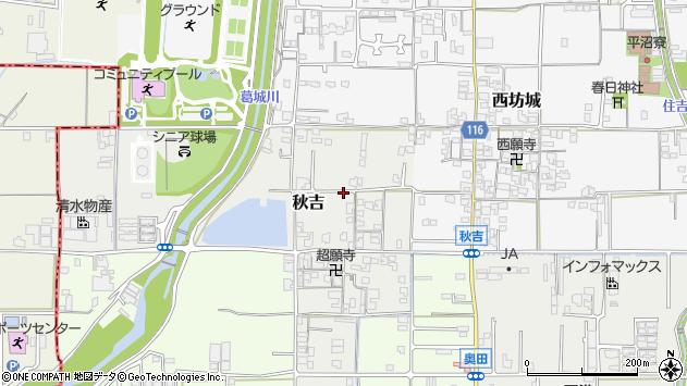 〒635-0053 奈良県大和高田市秋吉の地図