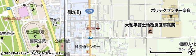 奈良県橿原市栄和町90周辺の地図