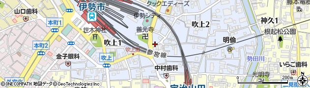 三重県伊勢市吹上周辺の地図
