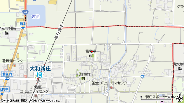 〒639-2112 奈良県葛城市笛堂の地図