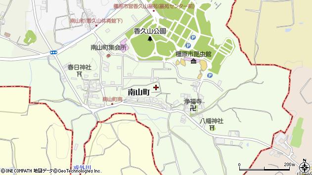 〒634-0024 奈良県橿原市南山町の地図
