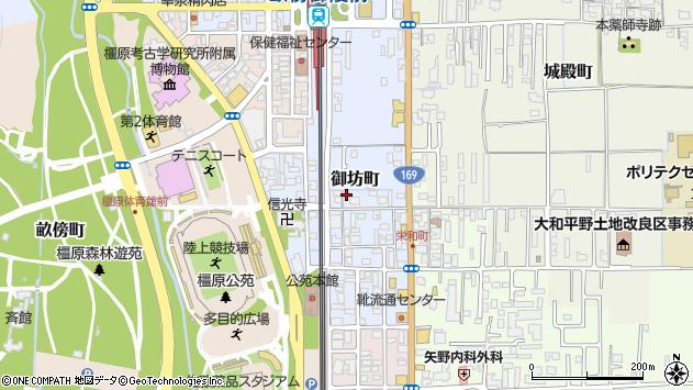 〒634-0062 奈良県橿原市御坊町の地図