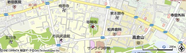 等観寺周辺の地図