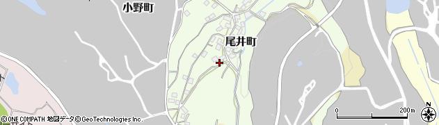 大阪府和泉市尾井町周辺の地図