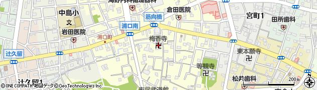 梅香寺周辺の地図