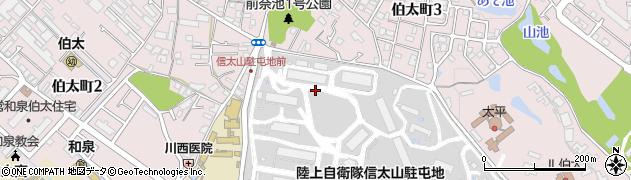 大阪府和泉市伯太町周辺の地図