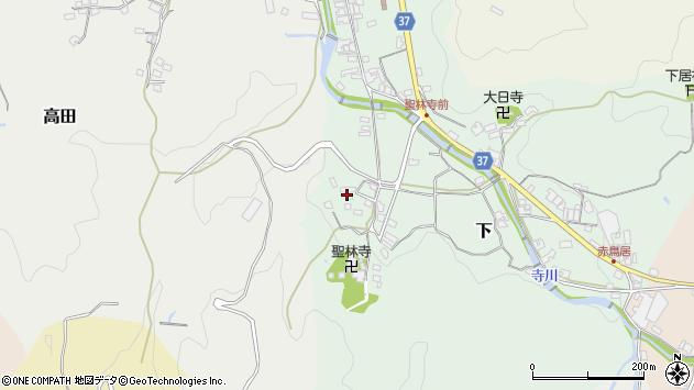 〒633-0042 奈良県桜井市下の地図