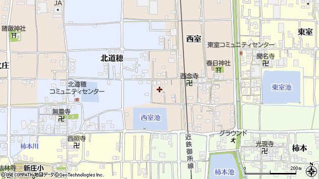 〒639-2103 奈良県葛城市西室の地図