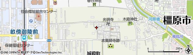 奈良県橿原市城殿町周辺の地図