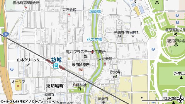 〒634-0835 奈良県橿原市東坊城町の地図