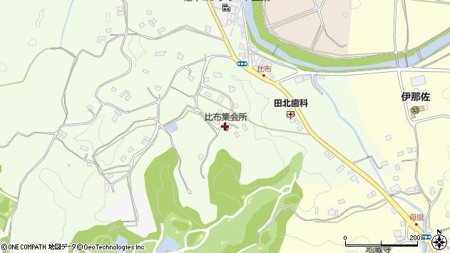 〒633-0235 奈良県宇陀市榛原比布の地図