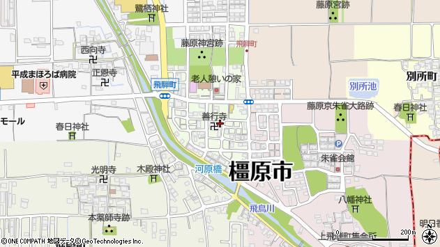 〒634-0034 奈良県橿原市飛騨町の地図