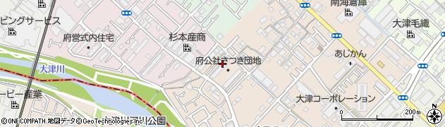 府公社さつき団地周辺の地図
