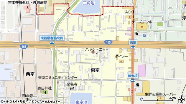 〒639-2102 奈良県葛城市東室の地図