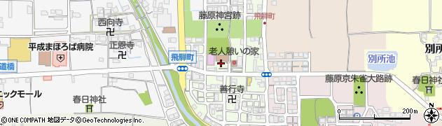 奈良県橿原市飛騨町周辺の地図