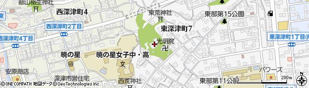 長尾寺周辺の地図