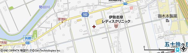 三重県伊勢市黒瀬町周辺の地図