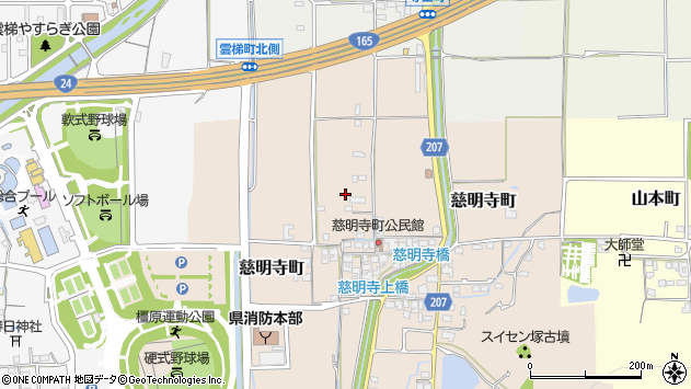 〒634-0816 奈良県橿原市慈明寺町の地図