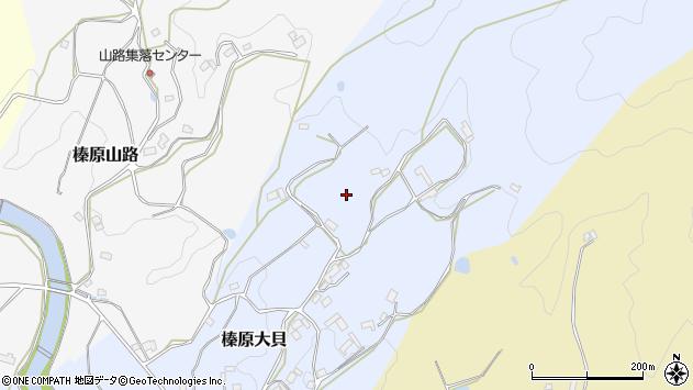 〒633-0225 奈良県宇陀市榛原大貝の地図