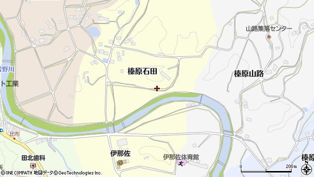 〒633-0223 奈良県宇陀市榛原石田の地図