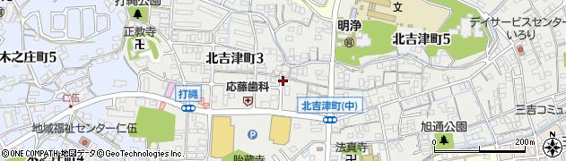 広島県福山市北吉津町周辺の地図