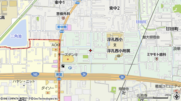 〒635-0055 奈良県大和高田市曽大根(丁目)の地図