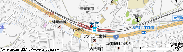 広島県福山市周辺の地図