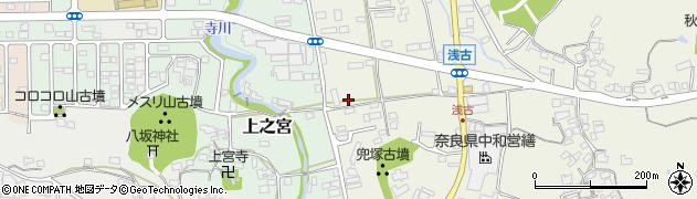 奈良県桜井市浅古浅古石の鳥居前周辺の地図