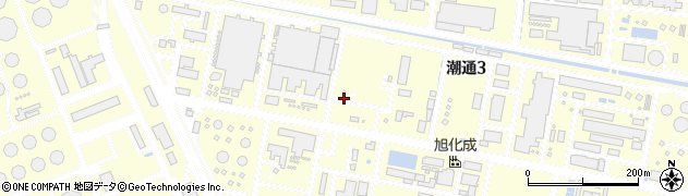 岡山県倉敷市潮通周辺の地図