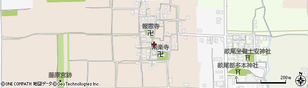 奈良県橿原市高殿町周辺の地図