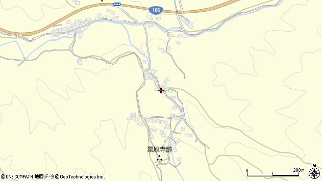 〒633-0014 奈良県桜井市粟原の地図