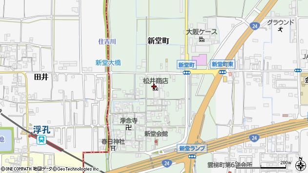 〒634-0836 奈良県橿原市新堂町の地図