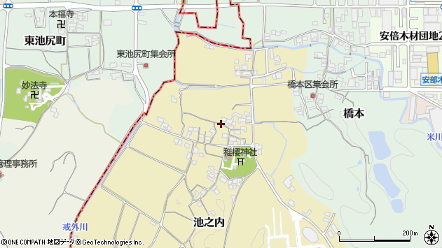 〒633-0046 奈良県桜井市池之内の地図