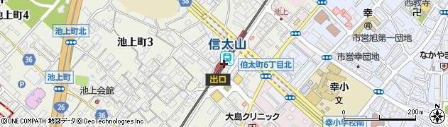 大阪府和泉市周辺の地図