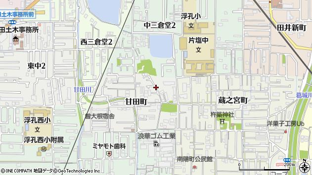 〒635-0056 奈良県大和高田市甘田町の地図