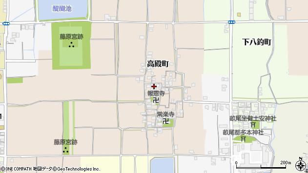 〒634-0027 奈良県橿原市高殿町の地図